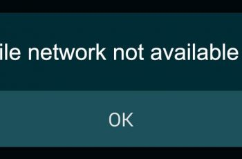 Mobile network not available error fix