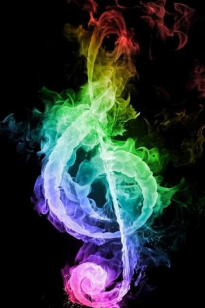 Colorful Music Flame