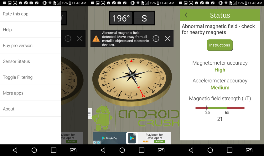 Accurate compass app for android