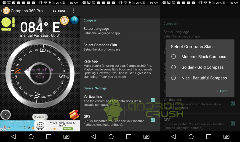 Best Compass Apps For Android Android Crush - Latitude longitude altitude finder