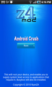 Root Android Phone With Z4 Root