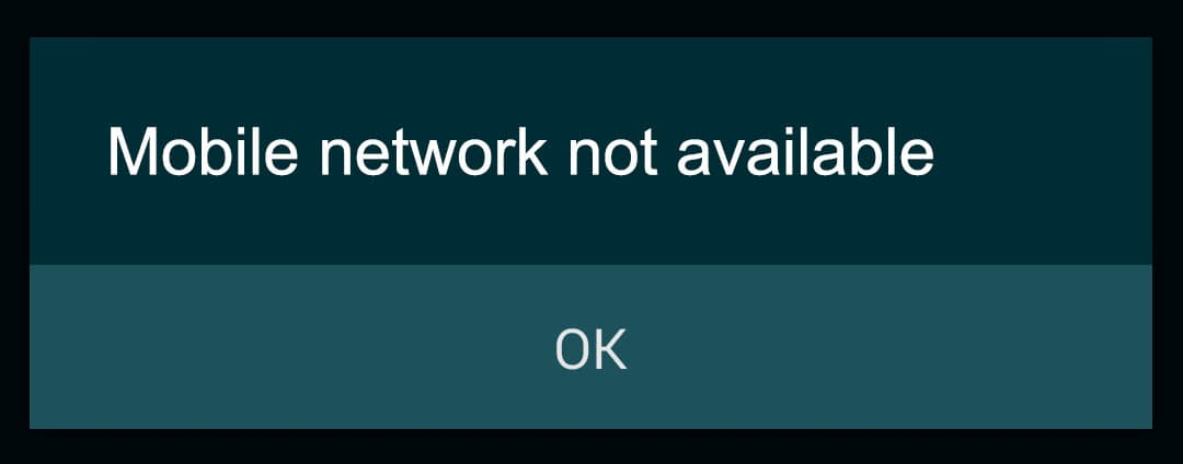 100 Working Mobile Network Not Available Errors Fix