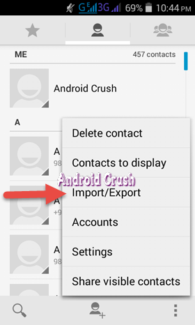 How to backup android contacts