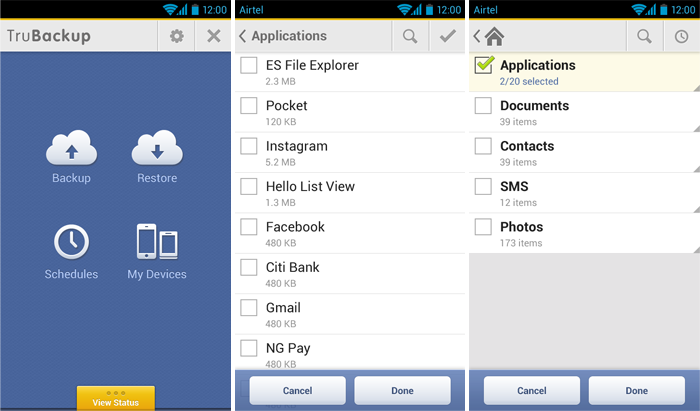 Best Backup Apps For Android 2016 - TruBackup