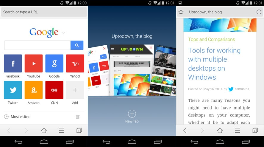 cm web browser for android
